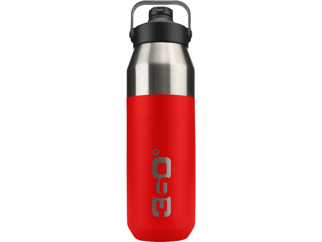 360° degrees Wide Mouth Insulated Drink Bottle with Sipper Cap 1000ml red